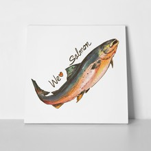 Fish salmon painting 1026138412 a