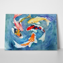 Watercolor koi fish swimming 15826810 a