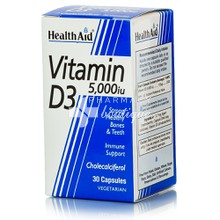 Health Aid Vitamin D3 5000i.u., 30caps