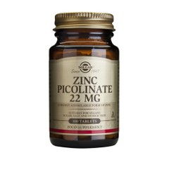 Solgar Zinc Picolinate 22mg 100 ταμπλέτες