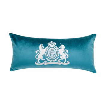 Velvet Long Cushion - Aqua