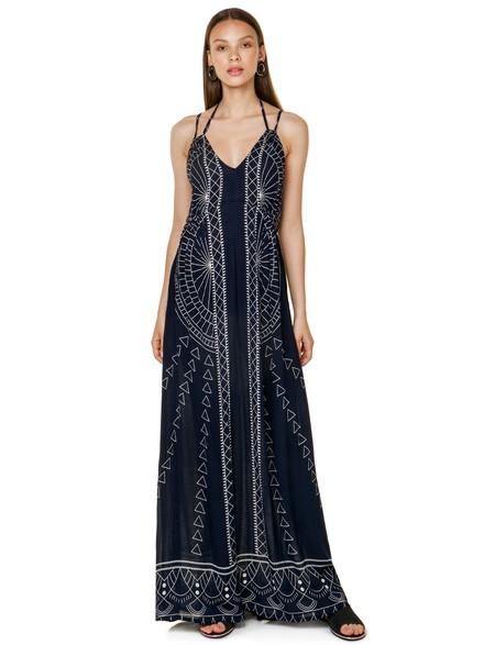 3bf29e2533c Εμπριμέ maxi φόρεμα