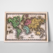 Antique world map 1835 27583843 a