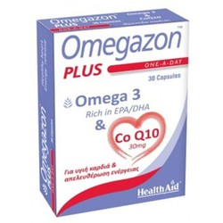 Health Aid Omegazon Plus (Ω3 & CoQ10) 30caps
