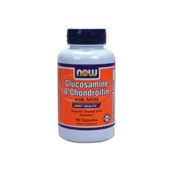 Now Glucosamine & Chondroitin 1500mg/1200mg with MSM, 90 Caps
