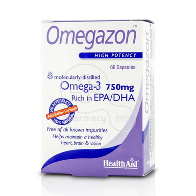 HEALTH AID - OMEGAZON Omega-3 750mg - 60caps