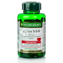 Nature's Bounty Omega 3-6-9 1200mg - Λιπαρά Οξέα, 60 softgels