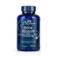 LIFE EXTENSION - BONE RESTORE with vitamin K2  - 120caps