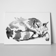 Watercolor portrait sleeping cat 442113331 a