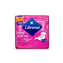 Libresse Ultra Thin Normal Triple Protection 10 pieces