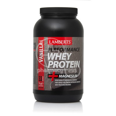LAMBERTS - PERFORMANCE Whey Protein + Magnesium Vanilla Flavour - 1kgr