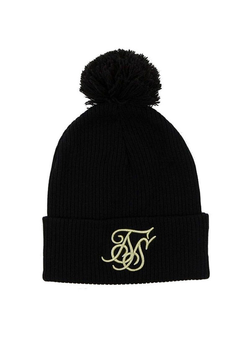 SikSilk Ribbed Beanie - Black