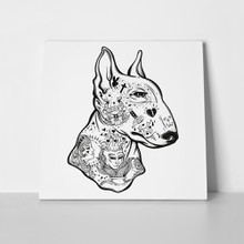 Bull terrier vintage tattoos 635339147 a
