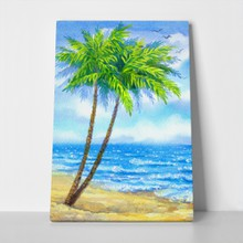 Palm trees near peaceful sea 231487555 a