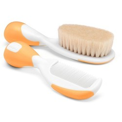 Chicco Brush & Comb 0m+ Orange Color