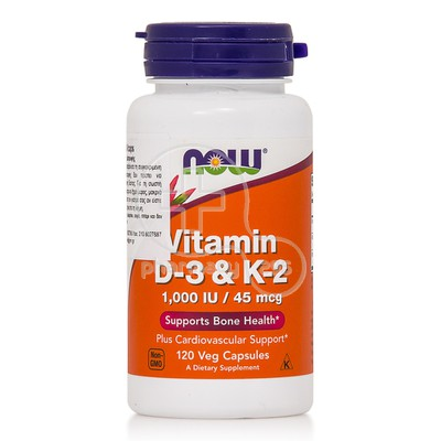NOW - Vitamin D3 & K2 - 120caps