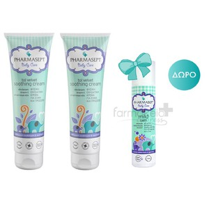 PHARMASEPT BABY SOOTHING CREAM 2X150ML & ΔΩΡΟ MILD BATH 40ML
