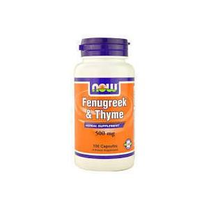 Now foods fenugreek   thyme 500 mg