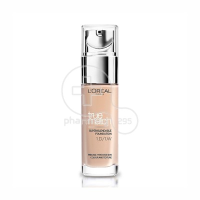 L'OREAL PARIS - TRUE MATCH Super Blendable Foundation No1D1W (Golden Ivory / IV Dore) - 30ml