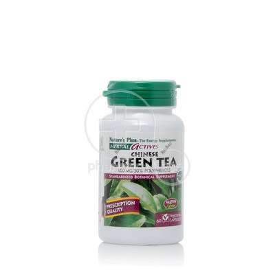 NATURE'S PLUS - HERBAL ACTIVES Chinese Green Tea 400mg - 60caps