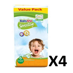 BABYLINO SENSITIVE XL N6 15-30kg 160 (=4x40) ΤΕΜΑΧΙΑ