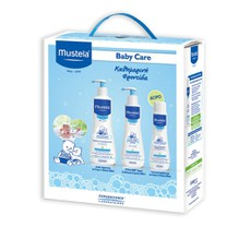 Mustela PROMO PACK Baby Care Clenasing Gel 500ml & Body Lotion 300ml & ΔΩΡΟ Bubble Bath 200ml.