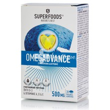Superfoods Omegadvance 500mg - Ιχθυέλαιο, 30 soft caps