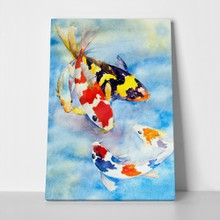 Watercolor painting colorful fish 73977076 a