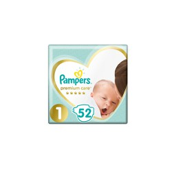 Pampers Premium Care Diapers Size 1 (2-5kg) 52 Diapers