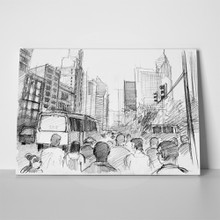 Modern city pencil drawing 123524782 a