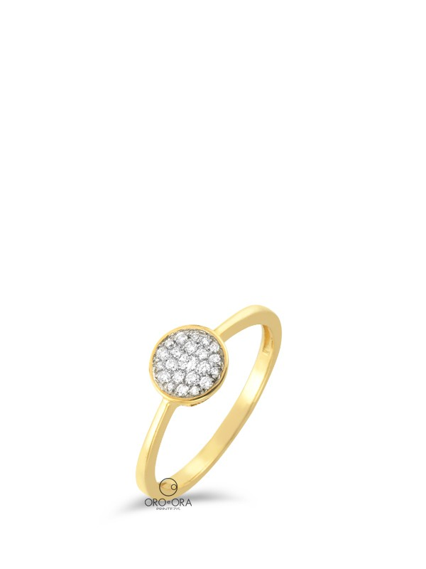 Ring Gold K18 with Diamonds