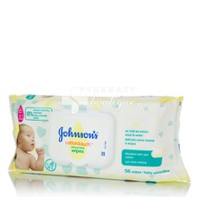 Johnson's Baby CottonTouch Extra Sensitive Wipes - Μωρομάντηλα, 56 τμχ.