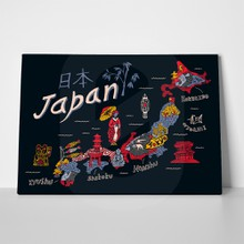 Illustrated map japan 466728437 a