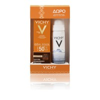 VICHY SUN IDEAL SOLEIL FACE CREAM ANTI DARK SPOT TINTED SPF50 50ML (PROMO+EAU THERMALE 50ML)