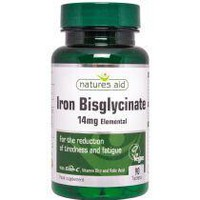 NATURES AID IRON BISGLYCINATE 14MG 90 TABS