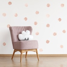 Watercolor polka dots pink