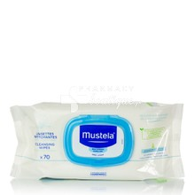 Mustela Dermo Soothing Wipes - Απαλά μωρομάντηλα καθαρισμού, 70τμχ