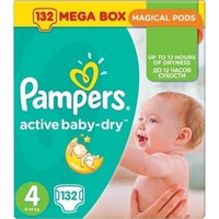 Pampers Mega Pack Active Baby Dry No.4 (8-14kg) 132 Πάνες