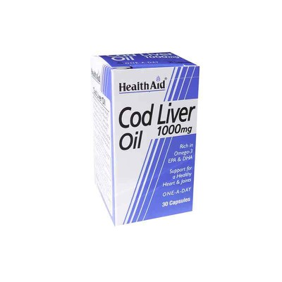 Health Aid - Cod Liver Oil 1000mg. - 30caps