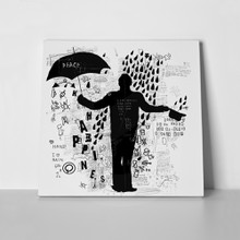 Man stands in rain symbolic 494742295 a