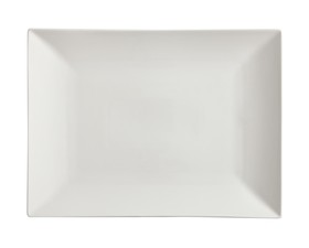 Maxwell & Williams Πιατέλα Παραλληλόγραμμη Linear White Basics 40x30cm