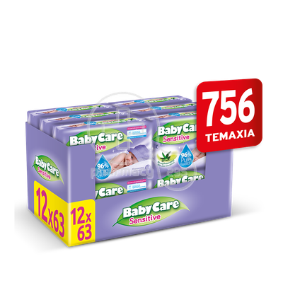 BABYCARE - PROMO PACK BabyCare Sensitive Pure Water Μωρομάντηλα - 756τεμ. (12x63τεμ.)