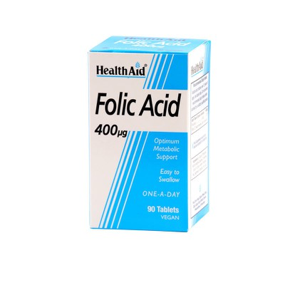 Health Aid - Folic Acid 400Mg - 90tabs