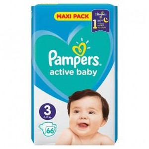 PAMPERS Active baby sleep N3 6-10kg maxi pack 66πάνες