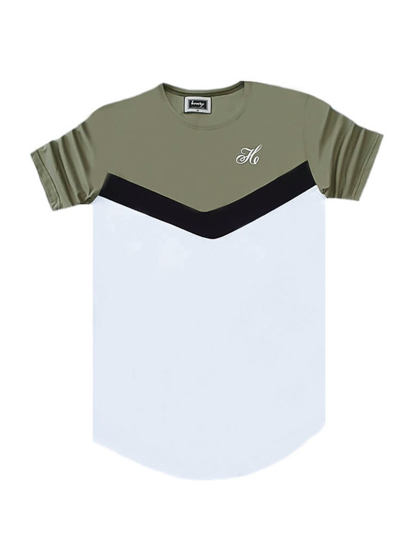 HENRY CLOTHING KHAKI TRIANGLE T-SHIRT