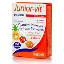 Health Aid JUNIOR-VIT Children's Μασώμενα, 30 tabs