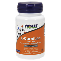 NOW SPORTS L-CARNITINE 500 MG, 30 VEG. CAPS