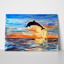 Jumping dolphin painting 441045499 a