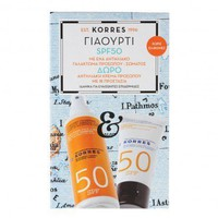 Korres Promo Sunscreen Face & Body Emulsion Yoghurt SPF50 150ml & Δώρο Sunscreen Face Cream Yoghurt SPF50 50ml