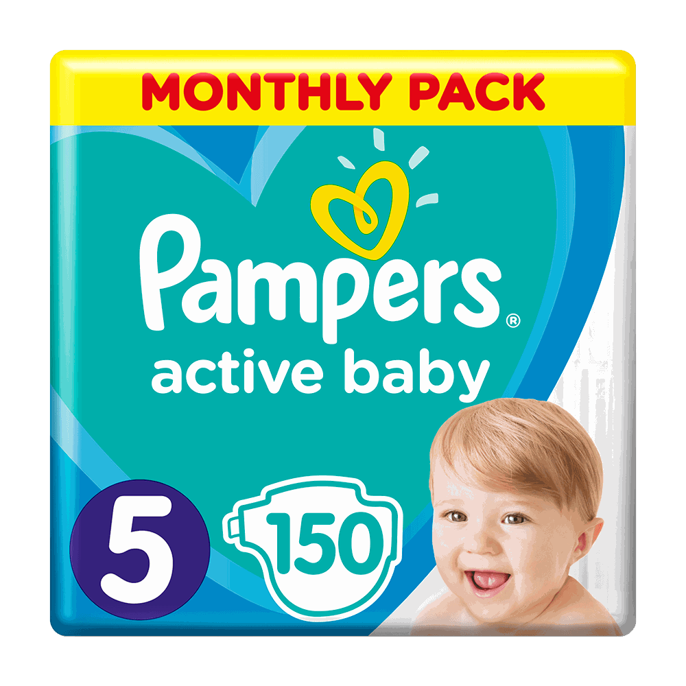 136196 pampers   monthly pack active baby   5  11 16kg    150       8001090910981 81678675